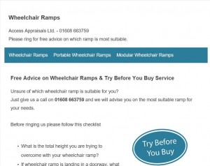 wheelchair ramps website